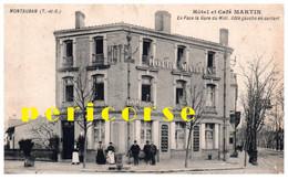 82  Montauban  Hôtel Et Café Martin Face à La Gare Du Midi - Montauban