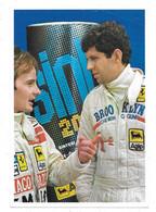 "Cartoncino Pubblicitario ""Olio Sint 2000"". Ferrari - Jody Scheckter E Gilles Villeneuve. Adani Franco (Vignola). Agip. - Grand Prix / F1"