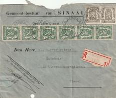OCB 425 X 6 + 420 X 2 Op Aangetekende Brief Van SINAAI (WAAS). - 1935-1949 Petit Sceau De L'Etat