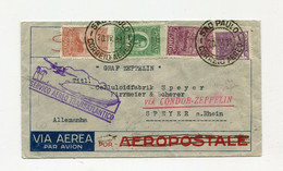 !!! LETTRE DE SAO PAULO (BRESIL) POUR LA FRANCE PAR ZEPPELIN, CACHET CONDOR ZEPPELIN 1932 - Aéreo
