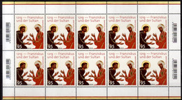 2019 Germany  800 Years Of Meeting St. Francis Of Assisi And Sultan Al-Kamil Al-Malik Sheetlet MNH** MiNr. 3498 Religion - Unused Stamps