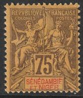 FRANCE COLONIE SENEGAMBIE ET NIGER N°12 NEUF * MH - Unused Stamps