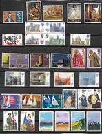 GRANDE BRETAGNE-30 TIMBRES AVEC BLOC DE 4 ET SERIES -BEAUX T. NEUFS * SANS-GOMME-PAS EMINCES- BEAUX VERSO- DEPUIS 1966 - Unclassified
