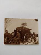 106e Régiment D'infanterie De Ligne. Manœuvres. Ravitaillement. Attelage. Fin XIXème. ! Petit Format 6x4.5cm - Guerre, Militaire