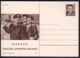 Czechoslovakia 1950 / Mining, Called The Right Boys / Postal Stationery - Postales