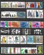 GRANDE BRETAGNE-46 SUPERBES TIMBRES NEUFS * * DONT 11 SERIES COMPLETES -1 BLOC DE 2 TIMBRES -DEPUIS 1975 - Unused Stamps
