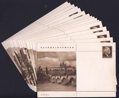 Czechoslovakia 1947 / Set Of 16 Postal Stationery Cards / Prague Bratislava Brno Opava Kosice Hradec Kralove - Postales