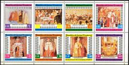 {E07} Equatorial Guinea 25 Anniv. Coronation Elizabeth II Sheet Of 8  MNH - Äquatorial-Guinea