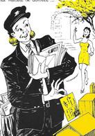 Le FACTEUR - La Manière De Donner - Carte Postale -Je Vous Aime - Courrier - Illustrateur Blemus - PTT Aisne - - Poste & Postini