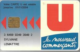 -CARTE²-PUCE-ORG--FIDELITE-2004-U Les Nouveaux Commercants-TBE--RAR E - Tarjetas De Fidelización Y De Regalo