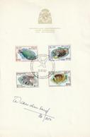 OCB 1470-73 Op Herdenkingsblaadje - Cartas