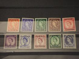 KUWAIT - 1952/4 REGINA/FIORI 10 VALORI - NUOVI(++) - Kuwait