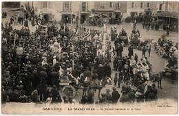 Corse Cpa Rare Sartene Le Mardi Gras Sa Majesté Carnaval Et Sa Cour - Sartene