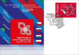 POLAND 2021 The Visegrád Group, Visegrád Four Czech Republic, Hungary, Poland And Slovakia FDC Cover New!!! - FDC