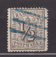 Hamburg - 1864 - Michel Nr. 10 - Stempel Blau - Gestempelt - Hambourg