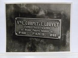 Locomotive. Corpet & Louvet. Constructeurs. 8.5x13.5 Cm - Treinen