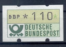 Allemagne  1981 - Michel N. 1.1.h.u - Timbre De Distributeur 110 Pf. (Y & T N. 1) - Distribuidores