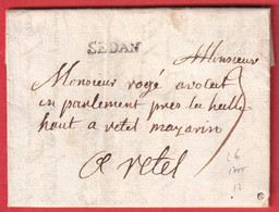 MARQUE SEDAN ARDENNES LENAIN N°6 1755 RETHEL INDICE 12 - 1701-1800: Precursors XVIII