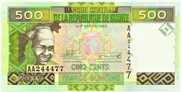 Guinea - 500 Francs - 2017 - Pick: 47.b - Unc. - Serie AA - Guinea