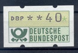 Allemagne  1981 - Michel N. 1.1.h.u - Timbre De Distributeur 40 Pf. (Y & T N. 1) - Distribuidores