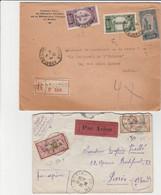 MAROC  2 LETTRES POUR PARIS - Lettres & Documents