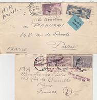 ETATS-UNIS  2 LETTRES POSTE AERIENNE  POUR LA FRANCE - Briefe U. Dokumente