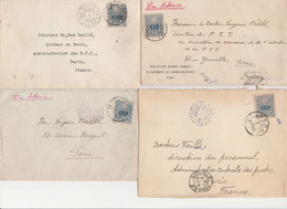 JAPON  4 LETTRES  POUR LA FRANCE - Briefe U. Dokumente