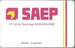 CARTE-D ENTREPRISE-1990-SAEP-BOULOGNE92100-TBE - Otros