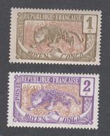 Colonies Françaises - Timbres Neufs** - Congo - N°48 Et 49 - Ungebraucht