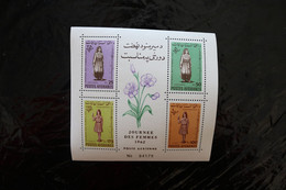 Afghanistan Women In National Costume Girl Scout Perf Souvenir Sheet Block MNH 1962 A04s - Afganistán