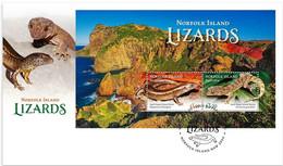 Norfolk Island  2021  FDC Lizards  Lézards Lézard - Other