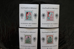 Afghanistan Women's Day Girl Scout With Flag Perforate FOUR Souvenir Sheet Block MNH 1964 A04s - Afghanistan