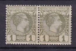 MONACO - Paire Neuve Du 1c. De 1885 - Unused Stamps