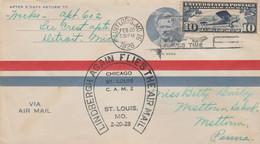 ETATS UNIS  JOLIE LETTRE AERIENNE  1928 - Briefe U. Dokumente
