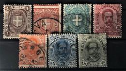 ITALY / ITALIA 1891/97 - Canceled - Sc# 68, 69, 70, 73, 74, 75 - Gebraucht