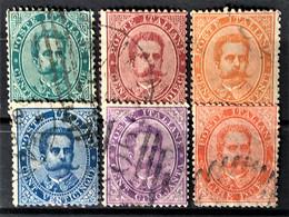 ITALY / ITALIA 1879 - Canceled - Sc# 45, 46, 47, 48, 50, 51 - Gebraucht