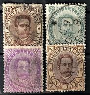 ITALY / ITALIA 1889- Canceled - Sc# 53, 54, 55, 56 - Gebraucht