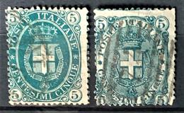 ITALY / ITALIA 1889/91- Canceled - Sc# 52, 67 - 5c - Gebraucht
