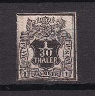 Hannover - 1856/57 - Michel Nr. 10 - Gestempelt - 40 Euro - Hanover