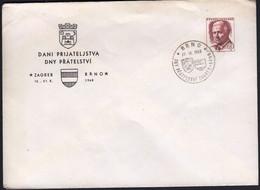 Czechoslovakia Brno 1968 / Days Of Friendship Zagreb - Brno / Coat Of Arms - Cartas
