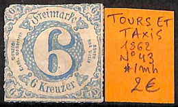 NB - [825562]TB//*/Mh-Allemagne 1862 - N° 43 - Thurn And Taxis