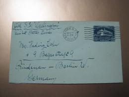 USA New York To Berlin Germany 1935 Cover - Briefe U. Dokumente
