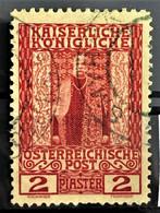 AUSTRIAN POST IN THE LEVANTE 1908 - Canceled - ANK 58 - 2P - Usados