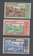 Colonies Françaises - Timbres Neufs** - Guyane - N°158,160 Et 163 - Neufs