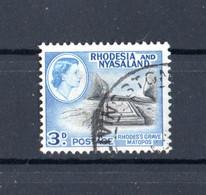 RHODESIA And NYASALAND  :   Regina - Antiche Tombe  -  1 Val. Usato  Del. 12.08.1959 - Rhodesien & Nyasaland (1954-1963)