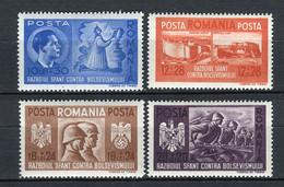 Rumanía 1941. Yvert 657--60 ** MNH. - Ungebraucht