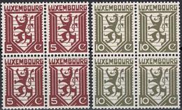 Luxembourg, Luxemburg 1930 Lion Héraldique Série Blocs à 4 Neuf MNH** Val.catalogue:30€ - Unused Stamps