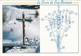 F1462 BESSANS - VUE SUR LA CROIX DU COQ ENNEIGE - DESCRIPTIF DES 20 POINTS DE LA CROIX - Andere Gemeenten