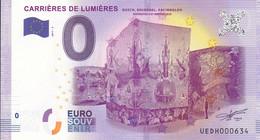 """13 - FRANCE / Billet Touristique / Souvenir 2017 """" CARRIERES DE LUMIERES 2017-3 """". - Essais Privés / Non-officiels"""