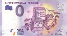 """13 - FRANCE / Billet Touristique / Souvenir 2017 """" SAVON DE MARSEILLE... 2017-1 """". - Essais Privés / Non-officiels"""